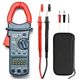 AstroAI Digital Clamp Meter TRMS 6000 Counts Multimeter Auto Ranging with AC/DC Voltage,AC Current,Resistance,Continuity,Capacitance,Frequency,Duty Cycle,transistors,Diodes and Temperature Tester.