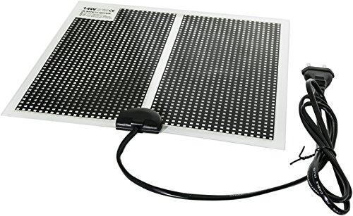 TropicShop Heizmatte BZW. Wärmematte ultraflache fürs Terrarium - mit 150cm Stromzuleitung mit EU Stecker 230V (14w mit 28x28cm)