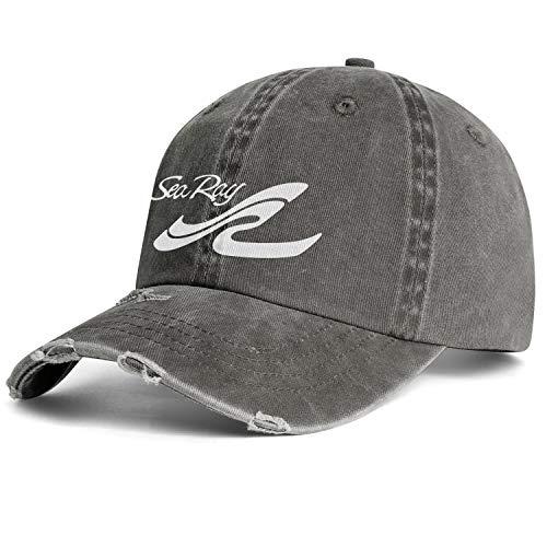 LiyeRRy Sea-Ray-Logo-White- Adjustable Baseball Cap Cowboy Hat Travel Trucker Cap Dad Hat Mesh Cap Unisex