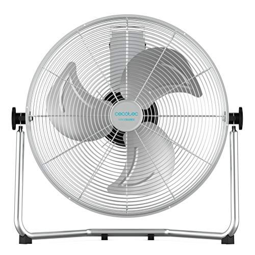 Cecotec ForceSilence industriële ventilator 100 W. chroom