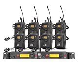 XTUGA RW2080 Rocket Audio Whole Metal Wireless in Ear Monitor System 2 Channel 8 Bodypack Monitoring with in Earphone Wireless Type Used for Stage or Studio