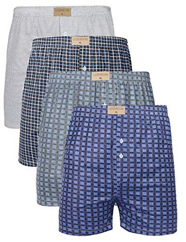 Palm Star Herren-Boxershorts, Premium-Qualität, weich, klassische Passform, mit Knopfleiste, lockere Passform, Multipack, 3er-Pack, 4er-Pack, Größe: L, XL, XXL - - XX-Large