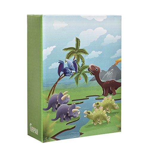 Arpan - Álbum de fotos para niños pequeños de 15 x 10 cm, diseño de dinosaurios en escena prehistórica para 100 fotos