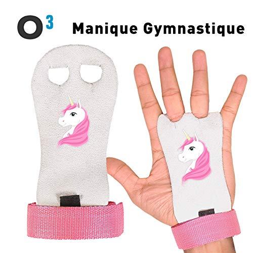 O³ Topflappen Gym – 1 Paar Gymnastik-Handschuhe für Kinder – perfekt für das Fitnessstudio auf dem Boden – schützt die Handfläche der Hände – Größe XS-S-M-L erhältlich