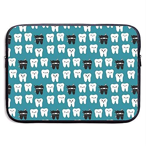 15 inch Tand Stof - Tandtanden Tandarts Tandarts Waterafstotend Laptop Sleeve Case Tas Cover