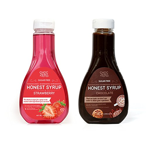 ChocZero's Chocolate Syrup and Strawberry Syrup
