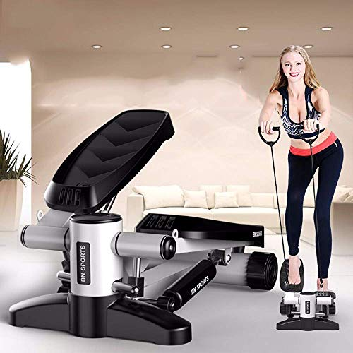 DGHJK Stepper,Stepper, Mini multifunción Up and Down Fitness Stepper Body Shaping Shaping Home Trainer para el hogar y la Oficina Fitness, Blanco