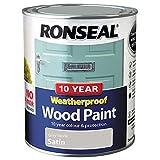 Ronseal 38791 10 Year Weatherproof Paint, Grey Stone, 750ml
