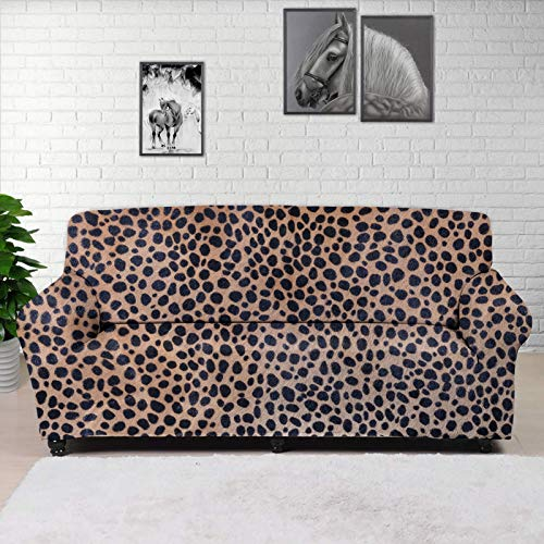 ZERODATE Recliner Chair Slipcover,Yellow Leopard Print Gothic Couch Chair Cover,Modern Home Furniture for Living Room Decoration,Housewarming Gift