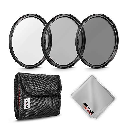 Zeikos Foto-Neutraldichte-Filter-Set (ND2, ND4, ND8) + MiracleFiber Mikrofaser-Reinigungstuch + Filtertasche (58 mm)