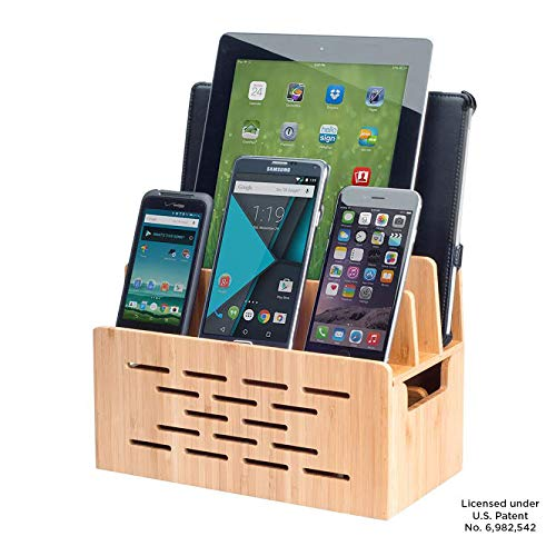 Bamboo Charging Station w/Cutout for Bluetooth Portable Wireless Speaker and Docking Stand use w/DKnight MagicBox, Anker Classic & More
