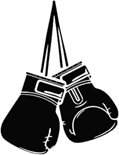 Boxing Gloves Pattern Styling Auto Car Truck Personality Decal Sticker Decor - Black