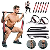 Portable Home Gym Pilates Bar System, Full Body Workout Equipment for Home, Office or Travel,...
