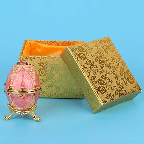 Joyero, joyero Hermoso del Huevo de la Pintura del Esmalte de la aleación del cinc del Modelo para el Regalo para Sus Amigos