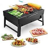 Uten Barbecue Carbone Portatile, Grill Barbecue Carbone Griglia Barbecue per 3-5 Persone Cottura alla Brace Ottima Griglia Trasportabile Giardino Terrazza Campeggio Picnic