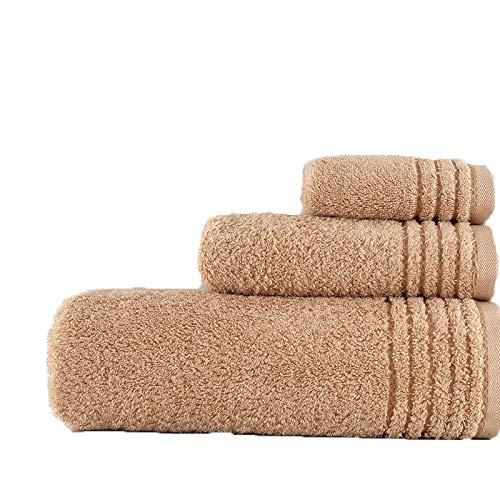 DSJDSFH Weiche Bequeme Gesunde Atmungsaktive Bio-Baumwolle Handtuch Badetuch Baumwolle Set 34 * 34, 34 * 76, 70 * 140Cm3-Teiliges Set