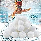 Bolas Filtrantes Bolas Filtro Piscina,Bolas Filtrantes 700g Filter Balls Alternative para 25KG Filtro de Arena Filtro de Piscina de Bolas de Limpieza para Filtro de Arena para Piscina,Filtrado de Agua