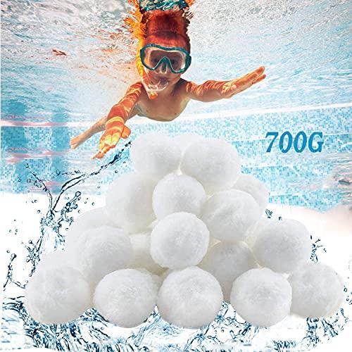 Hiegvor Filterballs für Sandfilteranlagen,Filterbälle für Poolpumpe 700G Kann 25 kg Filter Balls Ersetzen Filter Balls Pool Geeignet für Pool Filter Schwimmbad Filteranlage,Filterpumpe,Poolreinigung