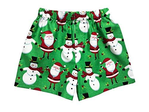 Santa Christmas Boxer Shorts Kids Underwear Briefs