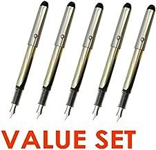 Pilot V Pen (Varsity) Disposable Fountain Pens, Black Ink, Small Point Value Set of 5(With Our Shop Original Product Description)