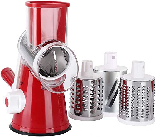 Sumo Slicer | 3in1 Trommelreibe, Raspeln, Schneiden, Reiben | Fixierfunktion | Multiraffel | Reibemaschine | Gemüsehobel | Mühle | Gemüseschneider