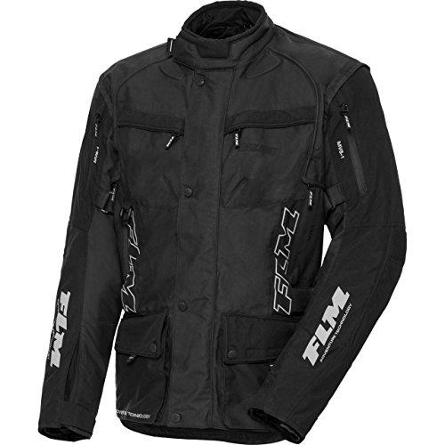 FLM Motorradjacke mit Protektoren Motorrad Jacke Reise Textiljacke 1.0 anthrazit M, Herren, Tourer, Ganzjährig