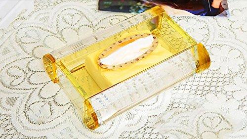 Porte-serviettes Mode de création européenne mignon rétro Crystal boîte de mouchoirs en papier pompage papier serviette tube salon boîte de rangement