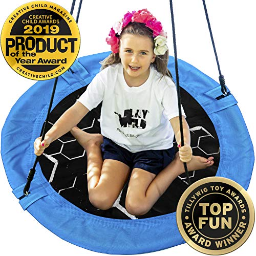 Saucer Tree Swing - 40' Round Outdoor Swing Set - Attaches to Trees or Existing Swing Sets - Create Your Own Backyard...