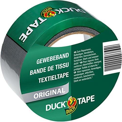 Duck tape 106–03Original nastro di tessuto per riparare, legare e fissare, 50mm x 25m, Argento