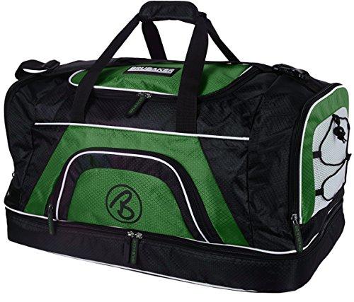 Brubaker 'Big Base' XXL sporttas 90 L of 'Medium Base' 52 L met groot vak voor natte ondergrond + schoenenvak