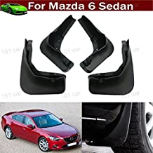 New 4pcs Black Color Front + Rear Car Mud Flaps Mudflaps Mud Guards Mudguard Splash Guard Fender Custom Fit for Mazda 6 Sedan 2013 2014 2015 2016 2017 2018 2019 2020