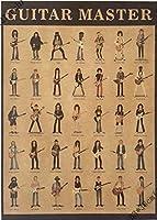 ギターマスターヴィンテージの家の壁の装飾ポスター21x15インチ(53 * 38センチ)の紙ポスター [並行輸入品]