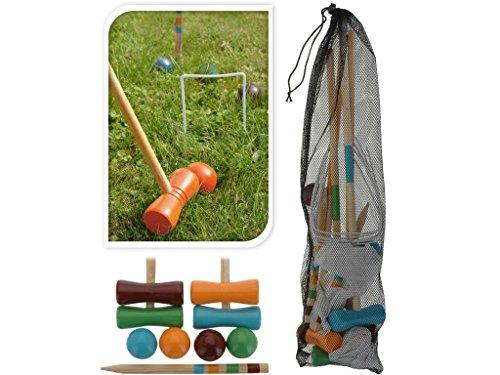 AC-Déco Set de Croquet pour Enfant - Bois - Jeux d'extérieur