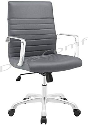 DuraComf Height Adjustable Swivel Executive Desk Chair/Boss Chair/Office Chair (Grey), 1 Year Warranty