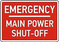 Emergency Main Power Shut-Off 金属板ブリキ看板警告サイン注意サイン表示パネル情報サイン金属安全サイン