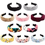 BAHABY 10 Pack Knotted Headbands for Women Girls Boho Top Knot Headbands for Women Headbands Women Hair Printed Headbands