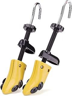 Fluckey シューズストレッチャー シューキーパー フィッター プラスチック スニーカー 左右兼用 靴擦れ 靴ズレ 靴伸ばし レディース メンズ サイズ調整 二個セット(女性L(23.0-26.0cm)-きいろい)