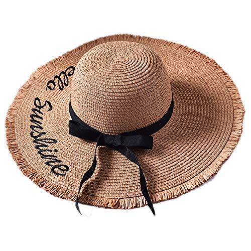Hechos A Mano De La Armadura del Sol De La Letra Sombreros para Las Mu
