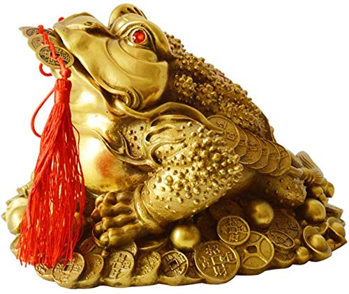 Chinese Statue Collectible Feng Shui Money Frog Lucky Money Toad Decorations Wealth Traditional Toad Statue Home Car Fengshui Decor Attract Wealth and Good Luck Feng Shui Decor,S,Size:X-Smal