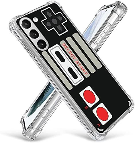 Game Case for Samsung Galaxy S21,Gifun Hard PC+TPU Bumper Clear Protective Case Compatible with Samsung Galaxy S21 2021 - Retro Arcade Game