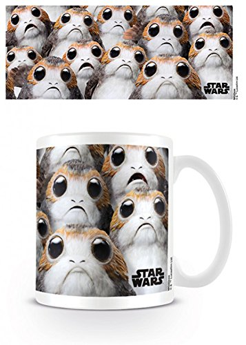 1art1 Star Wars, Episode VIII Die Letzten Jedi, Viele Porgs Foto-Tasse Kaffeetasse (9x8 cm) Inklusive 1x Überraschungs-Sticker