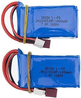 2pcs 7.4V 1400mAh lipo Battery for wltoys A959-b A969-b A979-b K929-B RC Car Parts