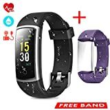 CHEREEKI Fitness Tracker, Heart Rate Monitor Activity Tracker with Blood Pressure Sleep Monitor 14...