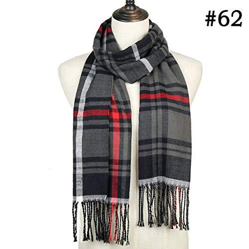 WNFDH sjaal winter dames sjaal geruit warm en warm, sjaals en enveloppen vrouwen