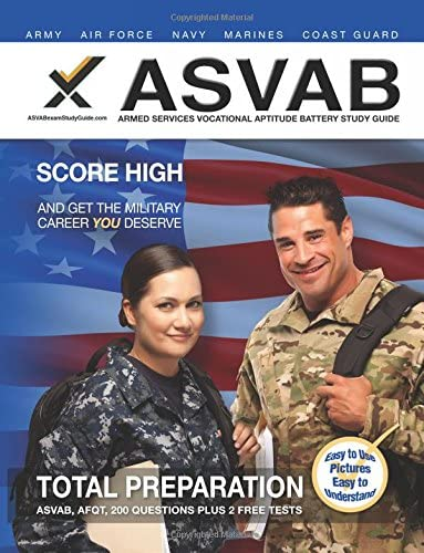 2017 ASVAB Armed Services Vocational Aptitude Battery Study Guide product image