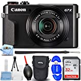 Canon PowerShot G7 X Mark II Digital Camera (Black) - Essential Bundle Includes: 32GB Ultra SD, Memory Card Reader, Camera Pouch, Blower, Microfiber Cloth and Cleaning Kit