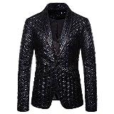 yczx blazer uomo classic brillantini con paillettes glitterati giacca abito elegante stampa smoking carnevale halloween costume chic chiusura cappotto casual completo xl