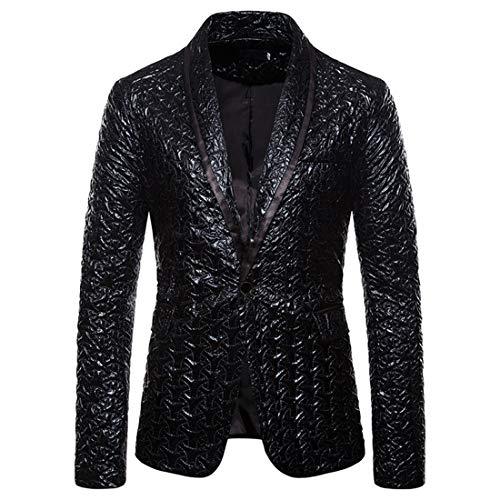 Herren Blazer Mode Casual Smoking Blitzende Jacket Herren Freizeit Bequemer Anzugjacke Suit Zwei...