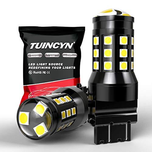 TUINCYN 3157 3156 Ampoules LED extrêmement Lumineuses 2700 lumens 3030 27SMD 3047 3057 3457 3155 3456 feu Stop Stop Stop stationnement Clignotant Clignotant Blanc 6000K DC 12 V-24 V(Paquet de 2)