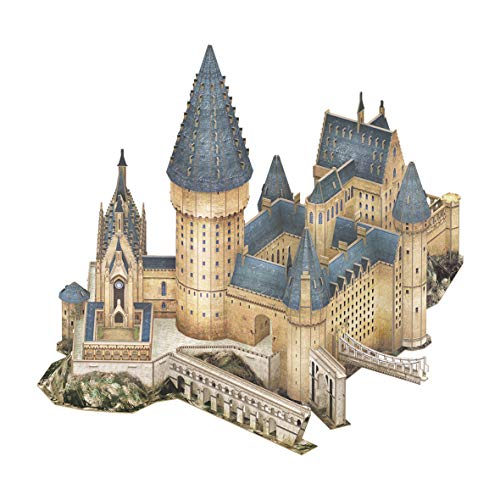 World Brands- Harry Potter-Gran salón de Hogwarts Puzzles 3D, Kit de Construcción, Multicolor (Cubic Fun DS1011H)